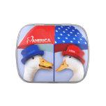 Amo América. Los patos divertidos diseñan las lata Frascos De Caramelos