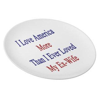 Amo América más que amé nunca a mi ex esposa Plato Para Fiesta