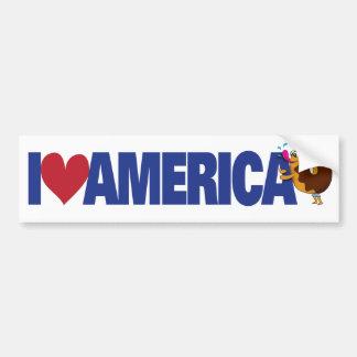Amo América Pegatina Para Auto