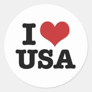 Amo América Pegatina Redonda