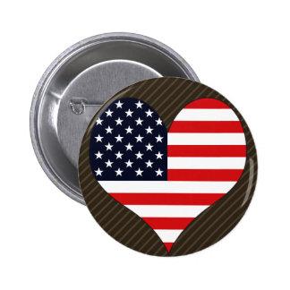 Amo América Pin Redondo De 2 Pulgadas