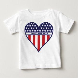 Amo América Playera De Bebé