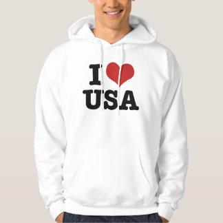 Amo América Pulóver Con Capucha