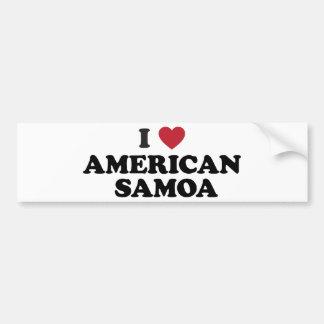 Amo American Samoa Pegatina Para Auto