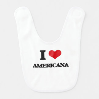 Amo americana baberos de bebé