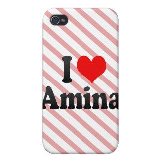 Amo Amina iPhone 4/4S Fundas