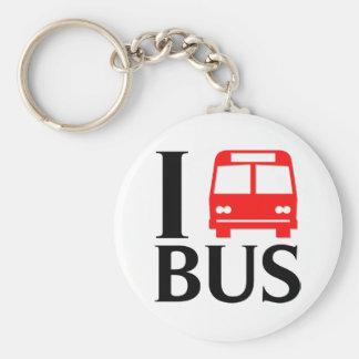 Amo amor del autobús el I el autobús del autobús Llaveros Personalizados