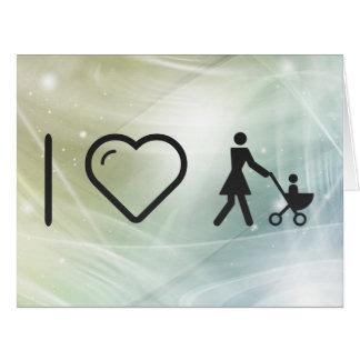 Amo amores maternales tarjeta de felicitación grande