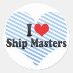 Amo amos de la nave etiquetas redondas