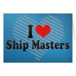 Amo amos de la nave tarjeton