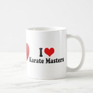 Amo amos del karate tazas de café