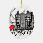 Amo Amsterdam Adorno Ovalado De Cerámica