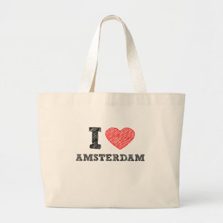 Amo Amsterdam Bolsa Tela Grande