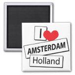 Amo Amsterdam Holanda Imán De Frigorífico