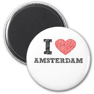 Amo Amsterdam Imán Redondo 5 Cm