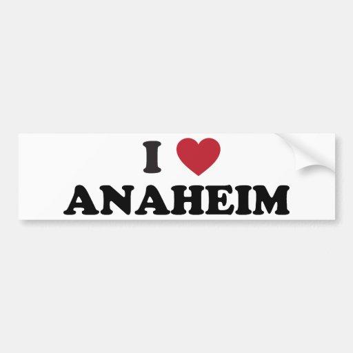 Amo Anaheim California Etiqueta De Parachoque