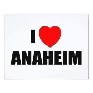 """Amo Anaheim, California Invitación 4.25"""" X 5.5"""""""