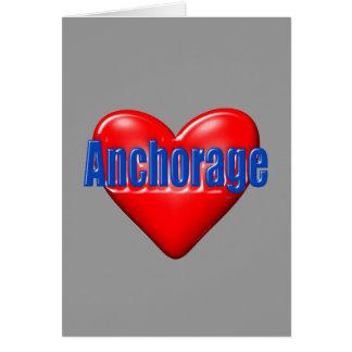 Amo Anchorage Alaska Tarjeta Pequeña