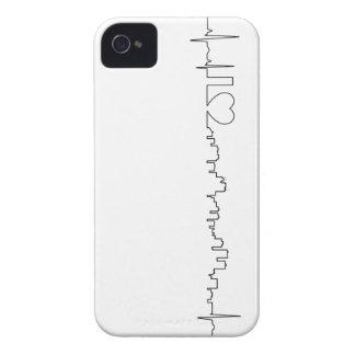Amo Anchorage en un estilo extraordinario del ecg iPhone 4 Case-Mate Carcasas
