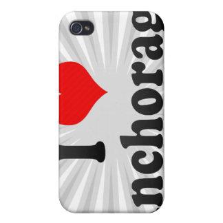Amo Anchorage Estados Unidos iPhone 4 Cárcasa