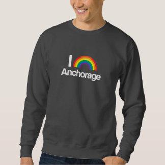 AMO ANCHORAGE GAY -- .png Sudadera Con Capucha