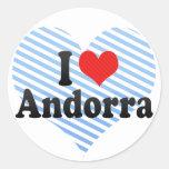 Amo Andorra Pegatina Redonda