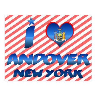 Amo Andover, Nueva York Tarjetas Postales