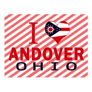 Amo Andover, Ohio Tarjeta Postal