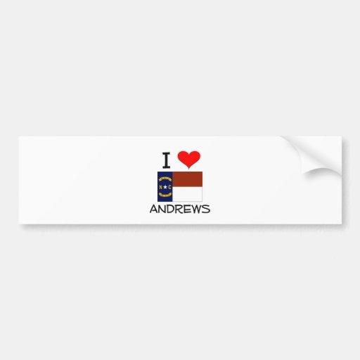 Amo Andrews Carolina del Norte Pegatina Para Auto