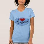 Amo ángeles camisetas
