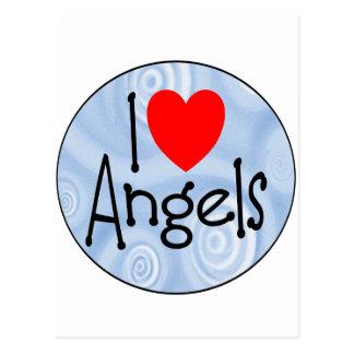 Amo ángeles postal