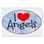 Amo ángeles tarjeta
