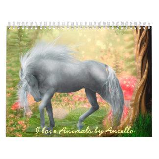 amo animales calendario de pared