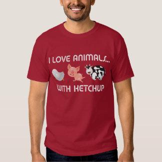 ¡Amo animales! Con la salsa de tomate Remeras