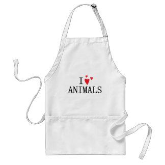 Amo animales delantal