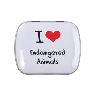 Amo animales en peligro latas de caramelos