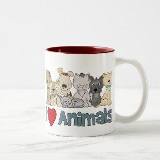 Amo animales tazas