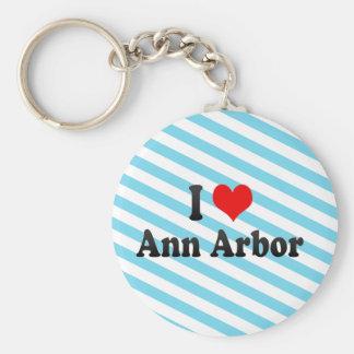 Amo Ann Arbor, Estados Unidos Llavero Redondo Tipo Pin