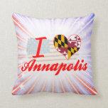 Amo Annapolis, Maryland Cojin