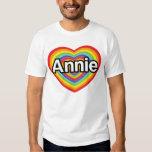 Amo Annie, corazón del arco iris Playera