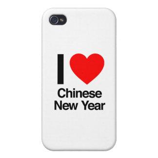 amo Año Nuevo chino iPhone 4/4S Fundas