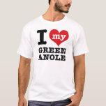 Amo Anole verde Playera