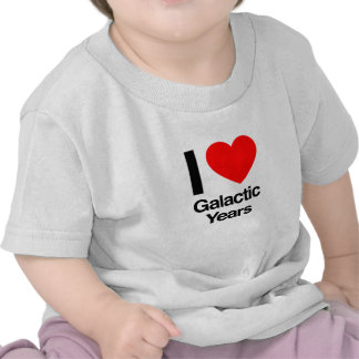 amo años galácticos camisetas