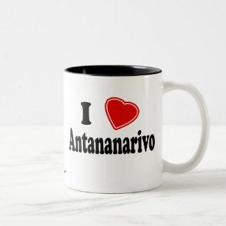 Amo Antananarivo Taza De Café De Dos Colores