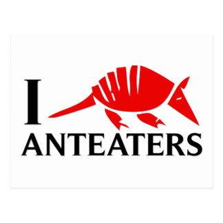 Amo Anteaters Tarjeta Postal