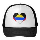 Amo Antigua y Barbuda Gorras De Camionero