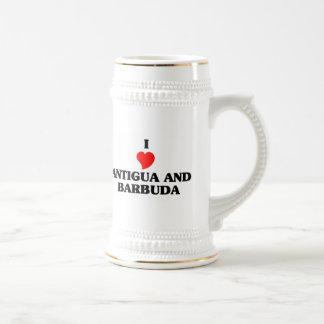 Amo Antigua y Barbuda Taza De Café