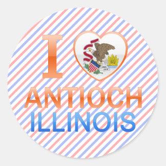 Amo Antioch, IL Pegatina Redonda