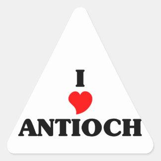 Amo Antioch Pegatina Triangular