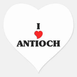 Amo Antioch Pegatina En Forma De Corazón